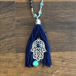 Blue EXPRESS long necklace